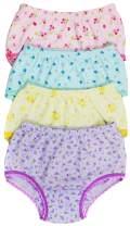 ToBeInStyle Girl's Pack of 4 Cotton Panties