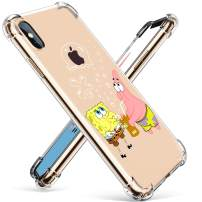 """Coralogo for iPhone Xs/X TPU Case, 3D Cute Cartoon Funny Stylish Designer Character Protective Kawaii Fashion Fun Unique Cool Cover Skin Teens Kids Girls Cases for iPhone Xs/X 5.8"""" (Sponge Patrick"""