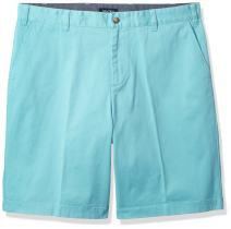 Nautica Big and Tall Classic Fit Flat Front Stretch Solid Chino Deck Short