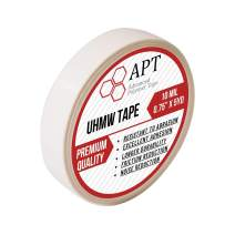 "APT, UHMW (Ultra-high Molecular Weight) Polyethylene Tape, Resists Abrasion, Impact, for Surface Protection and Friction and Noise Reduction for Lining Sliding Surfaces. (0.75"" x 5Yds, 10 Mil UHMW)"