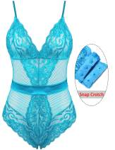 ADOME Lingerie for Women Lace Bodysuit Teddy One Piece Babydoll