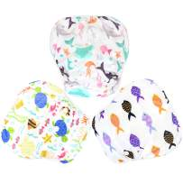 Langsprit 3 Pack Swim Diaper for Baby & Toddle,Reuseable Washable Diaper Swim for Swimming Lesson & Baby Shower Gifts (S, Sea Animal)