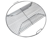 """22 Inch 201 Stainless Steel Hinged Grilling/Cooking Replacement 22"""" grill grate - For use in 22"""" Weber Charcoal Grills - Kettle Charcoal BBQ Grilling Accessories"""