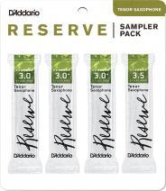 D'Addario Woodwinds D'Addario Reserve Tenor Saxophone Reed Sampler Pack, 3.0/3.0+/3.5 (DRS-K30)