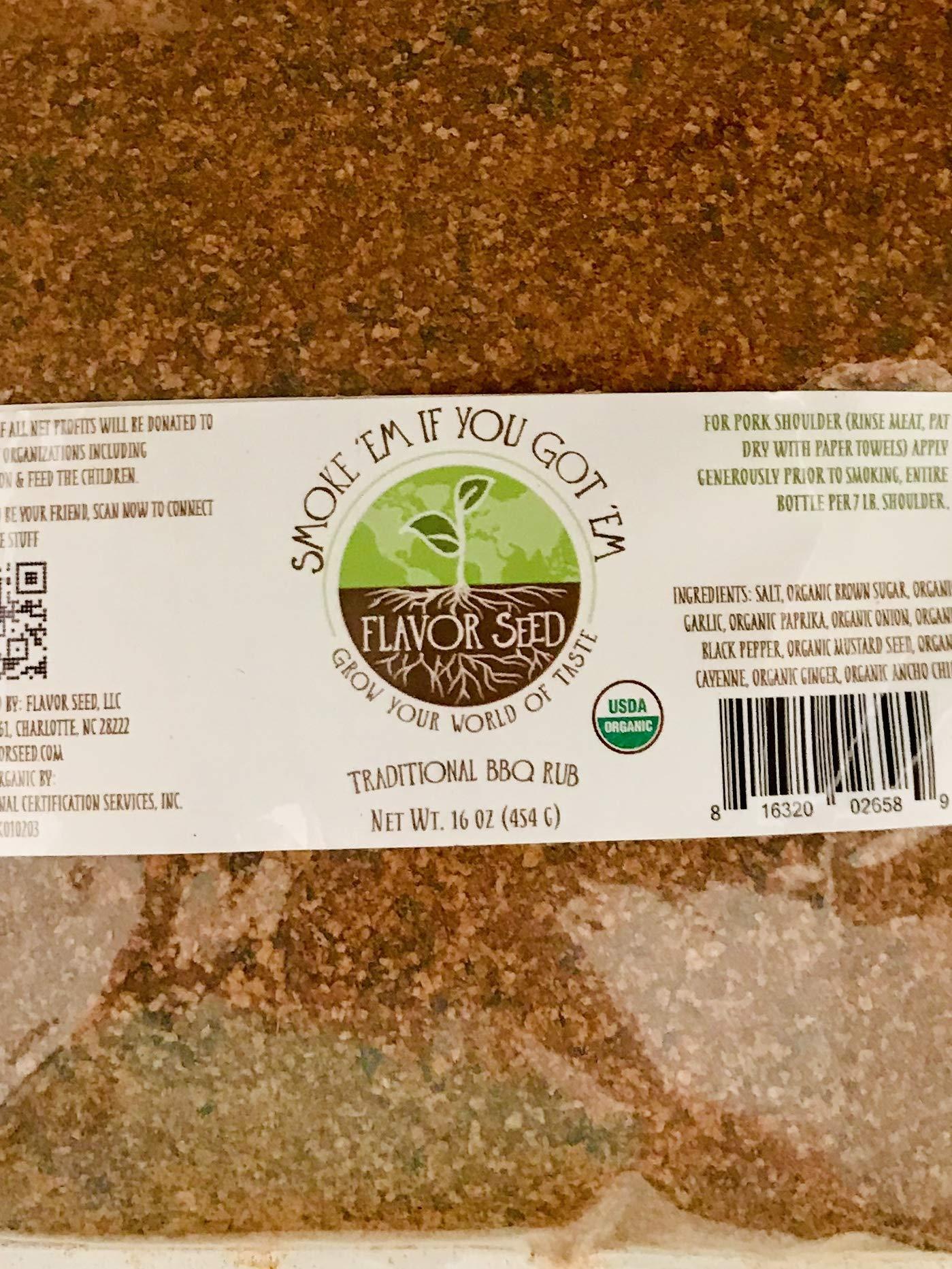 FLAVOR SEED - Smoke 'Em If You Got 'Em Organic BBQ Dry Rub|No BBQ Sauce Needed|Keto, Paleo, Non-GMO, Gluten Free|Pork, Beef, Barbecue, Ribs, Burgers, Fries, Pork Rinds, Chicken, Vegetables, Beans