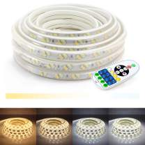 WYZworks LED Strip Lights, 100 ft 2-in-1 Warm White & Cool White Flexible Dimmable Lighting with Remote Controller Timer Adjustable Temperature 3000K   4000K   5000K   6000K - 25, 50, 100 feet