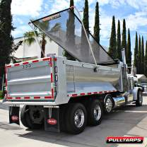 "Pulltarps Universal HD Mesh Tarp for Dump Trucks, Trailers, and Landscaping (18' x 84"")"