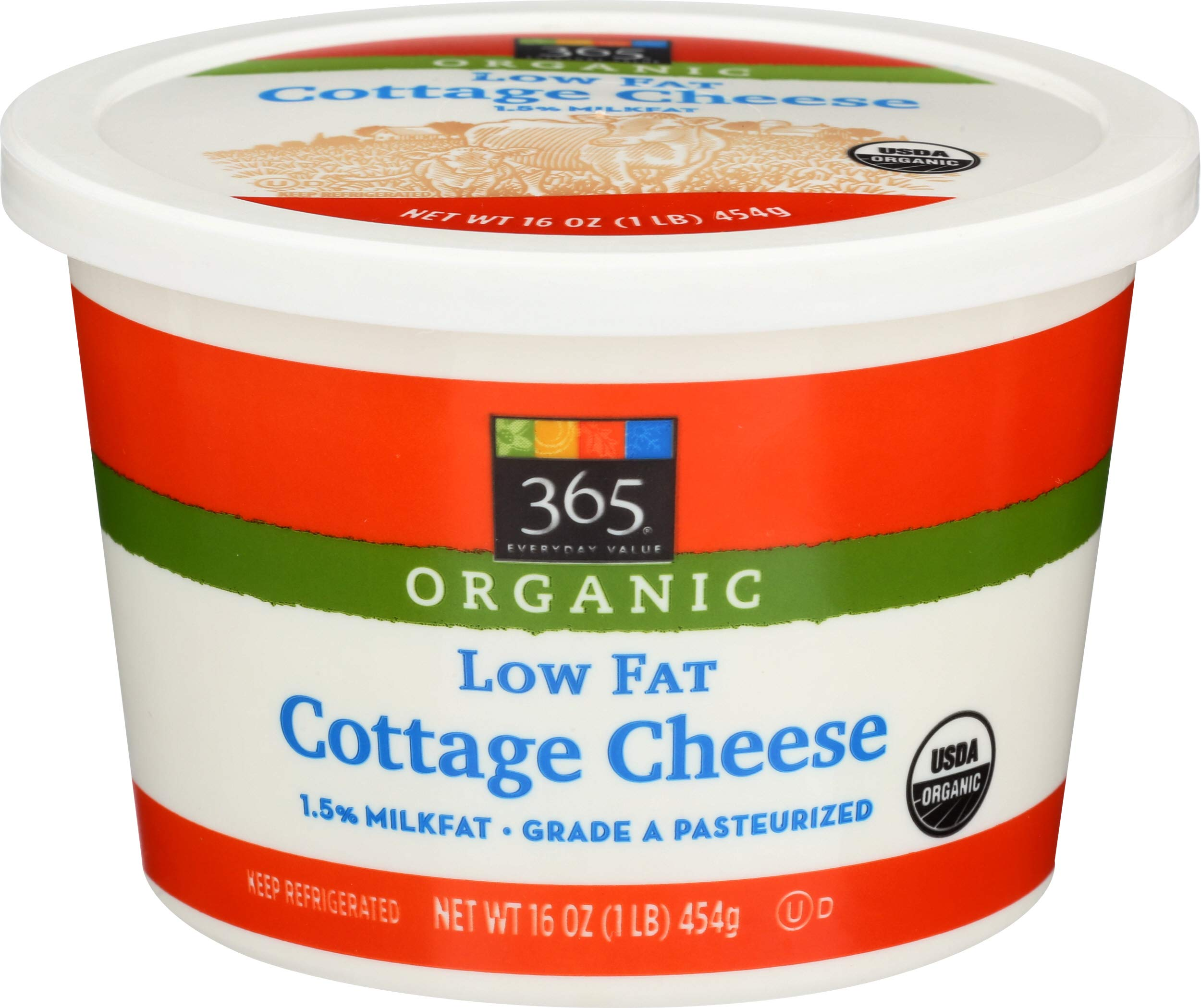 365 Everyday Value, Organic Low Fat Cottage Cheese, 16 oz