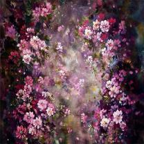Kate 8x8ft Abstract Photography Backdrops Painting Pink Flowers Photo Background for Princess Backdrop