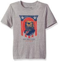 Lucky Brand Boys' Short Sleeve Bear President Tee