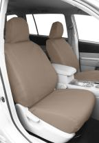 CalTrend Front Row Bucket Custom Fit Seat Cover for Select Toyota Highlander Models - DuraPlus (Beige)