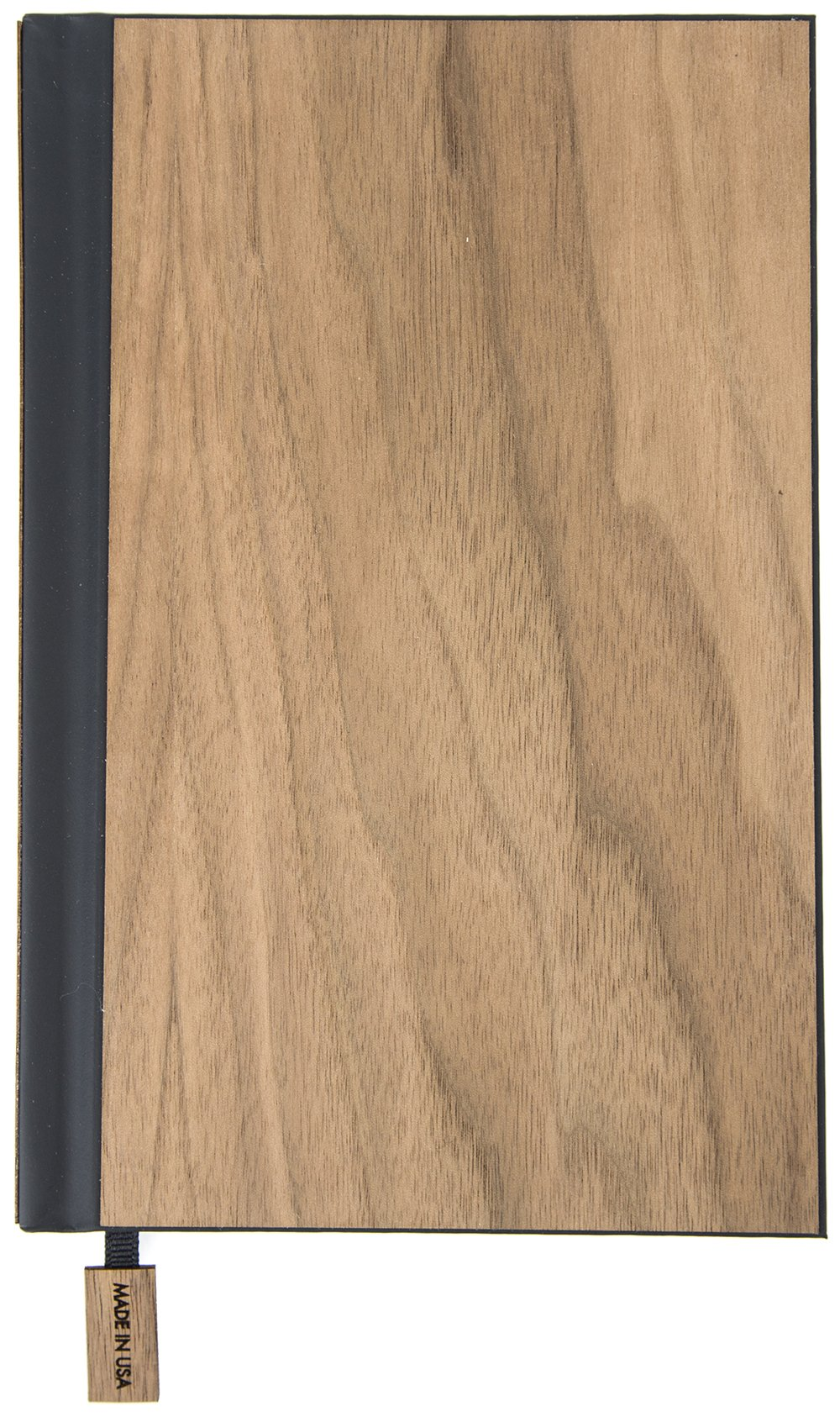 """Woodchuck - Classic Journal (6.5"""" x 4.5"""") - 88 Pages - Made in the USA - Walnut Wood - Lined Certified Recycled Paper - Unique Grain for Every Journal"""