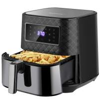 SAVWAY Air Fryer PRO 5.8 Quart, 1700W XXL Stainless Steel Air Fryer Oven with 7 Presets, LED Digital Screen and Nonstick Frying Pot, Air Fry/Roast/Grill/Bake/Keep Warm, Dishwasher Safe