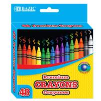 BAZIC 48 Counts Premium Color Crayons, Coloring Set, Large Pack Gift for School Classroom Art Kids Teens (Case of 24)