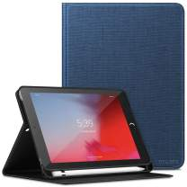 INFILAND iPad Mini 5 2019 Case with Apple Pencil Holder, Multiple Angle Case Compatible with Apple iPad Mini 5 7.9-inch 2019 Release (Auto Wake/Sleep), Navy