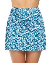 iClosam Women Skort Active Athletic Lightweight Skirt for Running Tennis Golf Workout Sports (Pattern_2, Medium)