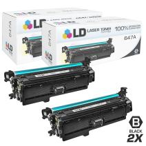 LD Remanufactured Toner Cartridge Replacements for HP 647A CE260A (Black, 2-Pack)