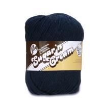Lily Sugar 'N Cream  Super Size Solid Yarn - (4) Medium Gauge 100% Cotton - 4 oz -  Bright Navy  -  Machine Wash & Dry