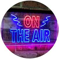 """ADVPRO On Air Studio Recording in Progress Dual Color LED Neon Sign Red & Blue 24"""" x 16"""" st6s64-i2066-rb"""