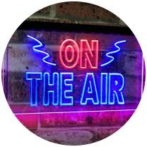 "ADVPRO On Air Studio Recording in Progress Dual Color LED Neon Sign Red & Blue 24"" x 16"" st6s64-i2066-rb"