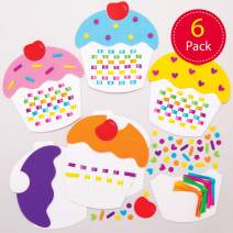 Baker Ross Cupcake Weaving Kits, Creative Art and Craft Supplies for Kids to Make and Decorate (6 Pack), AT394