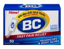 BC Powder | Fast Pain Relief | Aspirin (NSAID) & Caffeine | 50 Count (10042037103993)