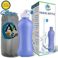 AVAbay Travel Bottle Peri Bidet-15.2oz Portable Toilet-Extended Nozzle Kit w/Discreet Storage Bag-Personal Post Partum Hygiene Care Perineal Mom Recovery-Portable Baby Spray Bottle