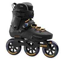 Rollerblade Twister Edge 110 3WD Unisex Adult Fitness Inline Skate, Black and Mango, Premium Inline Skates