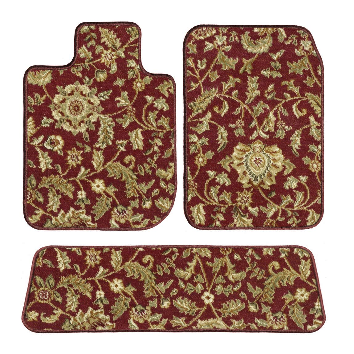 GGBAILEY D4637A-S2B-RD-IS Custom Fit Automotive Carpet Floor Mats for 1994, 1995, 1996, 1997, 1998 Land Rover Discovery Red Oriental Driver, Passenger & Rear