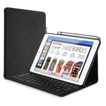 """ProCase Keyboard Case for iPad Air 10.5"""" (3rd Gen) 2019 / iPad Pro 10.5 2017 with Built-in Apple Pencil Holder, Slim Lightweight Folio Stand Protective Smart Cover with Wireless Keyboard -Black"""
