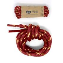 Mercury + Maia Honey Badger Work Boot Laces Heavy Duty with Kevlar - USA Made (Maroon and Natural)