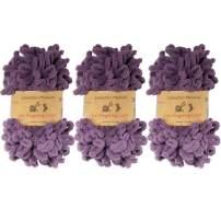 BambooMN Finger Knitting Yarn - Fun Finger Loops Yarn - Grape Compote - 3 Skeins