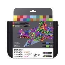 Winsor & Newton Promarker, Set of 24, Mixed Marker Set