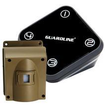 Guardline Wireless Driveway Alarm Outdoor Weather Resistant Motion Sensor & Detector- Best DIY Security Alert System- Stay Safe & Protect Home, Outside Property, Yard, Garage, Gate, Pool.