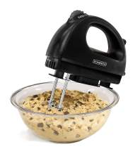 Dominion D6003B Electric Hand Mixer, Compact, Black