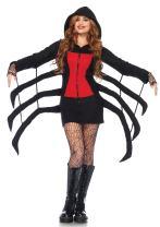 Leg Avenue Women's Cozy Black Widow Spider Halloween Costume