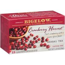 Bigelow  Cranberry Harvest Herbal Tea Bags  18-Count  Box (Pack Of 6), Caffeine Free 108 Tea Bags Total