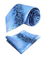 Alizeal Mens Paisley Party Necktie and Pocket Square Set