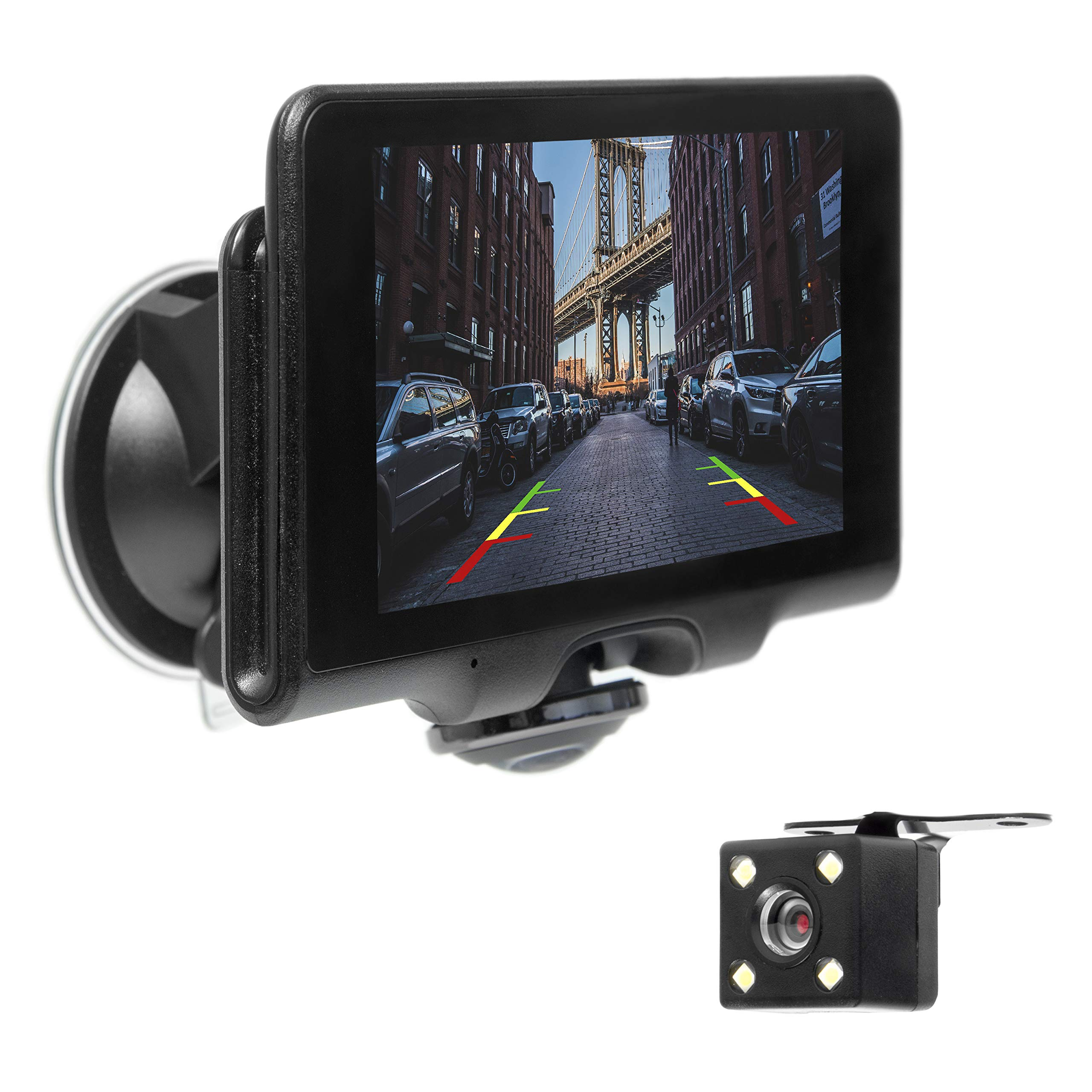 """Master Tailgaters Windshield Mount DVR Dash Cam with 5"""" Touch Screen, Four Display Modes, GPS, 1080P HD DVR Recording, and Panoramic 360° Camera DVR on The Market!"""