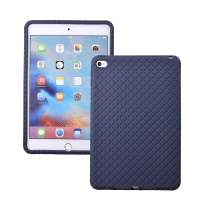 Veamor iPad Mini 4 Silicone Back Case Cover, Anti Slip Rubber Protective Skin Soft Bumper for Apple iPad Mini 4th Generation, Kids Friendly/Lightweight/Ultra Slim/Drop Proof/Shockproof (Midnight Blue)