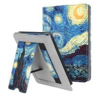 Fintie Stand Case for Kindle Paperwhite (Fits All-New 10th Generation 2018 / All Paperwhite Generations) - Premium PU Leather Protective Sleeve Cover with Card Slot and Hand Strap, Starry Night