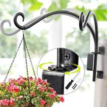 Swivel Plant Hanger   Hand-Forged Hanging Plant Bracket (12-inch/Black) More Convenient Use and Designed with Rotary Fixation for Wall Plant Hooks