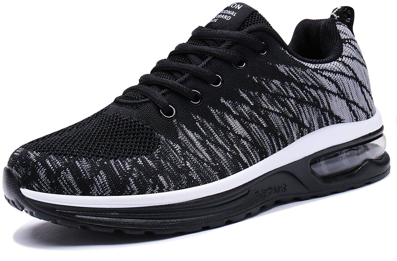 PENGCHENG Men Women Air Cushion Running Shoes Tennis Fitness Gym Lightweight Sneakers Purple