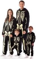 #followme Glow in The Dark Skeleton Jumpsuit Pajamas Family Sleepwear