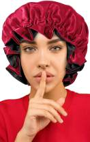 Reverse Satin Bonnet for Curly Hair, Silk Bonnets for Black Women Satin Bonnet for Natural Hair Bonnets for Sleeping