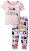 The Children's Place Baby Girls' Toddler Top and Pants Pajama Set (Pack of 2)