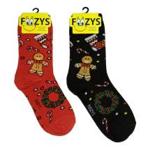 Foozys Women's Crew Socks | Colorful Holiday Christmas Novelty Socks | 2 Pairs