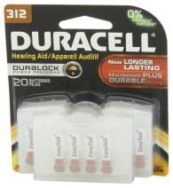 Duracell Easytab Hearing Aid, Size 312 Battery, 20 Count (Packaging May Vary)