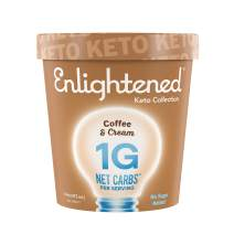 Enlightened, Keto Ice Cream, Low Sugar, Low Carb, 1g Net Carbs (Pack of 8 Pints) (Coffee and Cream, Pint)