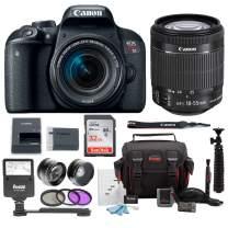 Canon EOS Rebel T7i Digital Camera: 24 Megapixel 1080p HD Video DSLR Bundle with Wide Angle 18-55mm Lens 32GB SD Card Mini Tripod Filter Kit & Flash - Professional Vlogging Sports & Action Cameras